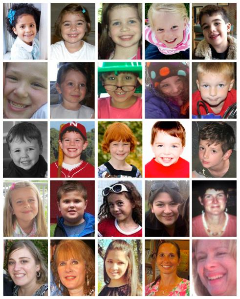 VICTIMS OF SANDY HOOK ELEMENTARY SCHOOL SHOOTING MASSACRE